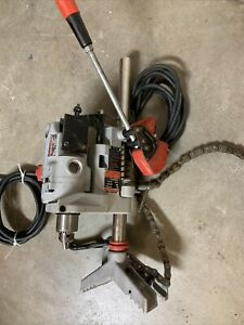 """Milwaukee 3570 Pipe Clamp Drill Stand With 1660-1 Drill, 2""""-8"""" Chain Vise"""