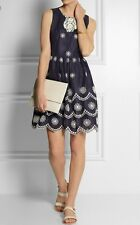 Collette by Collette dinnigan daisy dots embroidered blue dress size L, Large