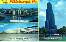 Postcard Pittsburgh Pennsylvania Gateway Center University Airport Pa Unposted