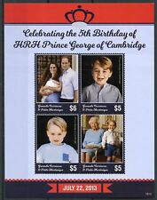 Grenadines of Grenada 2018 MNH Prince George 5th Birthday 4v M/S Royalty Stamps