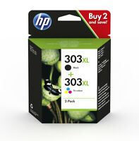 Genuine HP 303XL Combo Pack Ink Cartridge 3YN10AE for HP Envy Photo 6230 7130