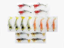 16 Kevlar Live Prawn Soft Plastic Shrimp Lures (16 pack with hooks)  90mm 8g