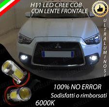 COPPIA LAMPADE FENDINEBBIA H11 LED CREE COB CANBUS PER MITSUBISHI ASX 6000K