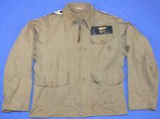 Rare WW2 USN M-421A Flight Jacket  Rigger Modified w/ Epaulets  & Name Tag