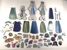 Disney Frozen Magnetic Dress Up Dolls Anna Elsa Olaf 60 Pieces Total Wooden