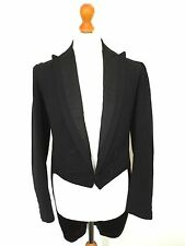 Mens Bespoke Edwardian Victorian White Tie Evening Tails Coat Size 40 (WT61)