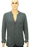 "Levis Long Sleeve Button Up Cardigan Size Medium Slim Fit 19"" ptp Grey"