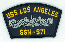 USN, NAVY, USS LOS ANGELES, SSN-571 CAP PATCH, VINTAGE