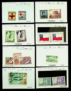 CHILE RED CROSS WORLD REFUGEE YEAR UPU CENTENARY 18v MINT + USED STAMPS