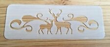Face paint stencil reusable washable reindeer wood 190Mylar glitter henna tattoo