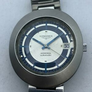 VINTAGE LONGINES RETRO ADMIRAL  AUTOMATIC OVAL MENS  WATCH 42 MM