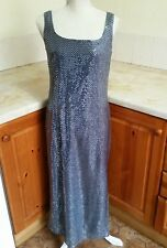 P11 ~ Ladies Grey/Blue Sequin style Dress Size 12 by Day Meets Night