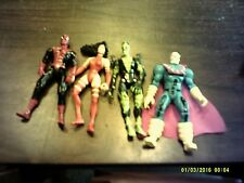 MARVEL SPIDER MAN ELECTRA CHAMELEON MORE 4 TO 5 INCH 4 LOT ACTION FIGURES