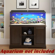75 Gallon Aquarium Stand Fish Tank Holder Cabinet Storage Shelves Modern Brown