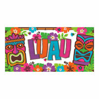 LUAU BANNER Wall Backdrop Party Decorations Tropical Beach Hawaiian Room Sign