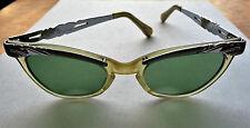TRUE Vintage Petite 50's CAT EYE Plastic EYEGLASSES Sunglasses FRAME USO Optical