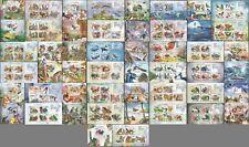 BG003 2011 COMOROS FAUNA BIRDS BUTTERFLIES ORCHIDS MINERALS 25BL+25KB MNH