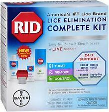 RID Lice Killing Treatment COMPLETE KIT - shampoo, comb, and 2 sprays