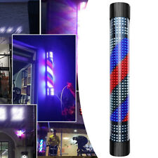 Hair Salon Shop Sign Lamp Led Barber Rotating Light Wall-Mounted Red White Blue