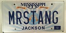 MS vanity MR STANG MUSTANG license plate Pony Shelby Cobra GT SVO SSP Muscle Car