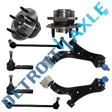 05-06 Equinox Torrent 8pc Lower Control Arm Tie Rod Wheel Bearing Kit - Non ABS