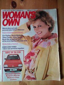 Original Vintage Woman's Own February 21st 1981. John & Yoko Final Pictures.