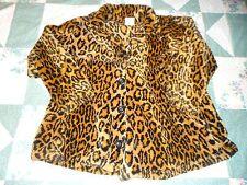 Girl's size  8  Black & Brown Animal Print Plush Winter Coat