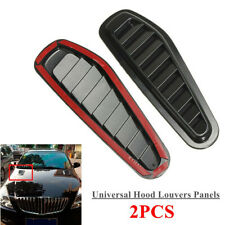 2PCS Universal Car Vehicle Hood Air Intake Scoop Bonnet Vent Hood Vent Sticker