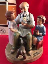 Norman Rockwell 1980 Annual Figurine the Toy Maker Nib Rare