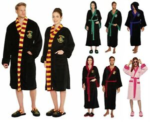 Harry Potter Bathrobe & Slippers Gryffindor Slytherine Fleece Robe