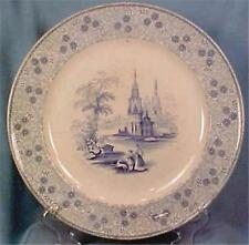 Antique Mesina Blue Transferware Plate Wood Challinor 1