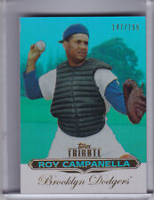 2011 TOPPS TRIBUTE #58 ROY CAMPANELLA BLUE BROOKLYN DODGERS HOF 147/199 4134