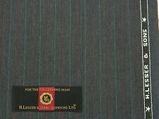 H.LESSER & SONS VINTAGE, DARK GREY WITH RED&WHITE ALTERNATE PINSTRIPES, 3.5MTRS