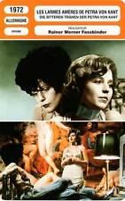 FICHE CINEMA : LES LARMES AMERES DE PETRA VON KANT - Schygulla,Fassbinder 1972