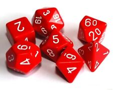 Set of 7 Red Poly Dice