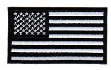 American Flag - Military, Veteran, MM / MC Biker Vest / Jacket Patch (white)
