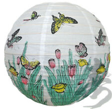 Japanese Chinese 16'' Round Paper Lantern Happiness Butterfly Home Party Decor