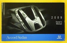 Accord Sedan 09 2009 Honda Owners Owner's Manual LX EX EX-L All Sedan Models OEM