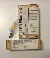 Bulbrite 776559 LED 4 CA10, 4W LED4CA10/27K/FIL/E12 CLEAR (LOT OF 4)