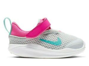 NIKE ACMI TD Sneakers / Shoes SZ 9 Girls NIB AQ2754 001 White / Pink/ Aqua