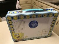 Spongebob Squarepants Child's Dry Erase Tin Activity Carry- All / Lunch Box