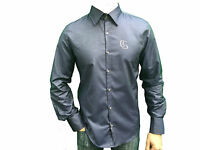 Mens designer blue Core Spirit  studded long sleeve smart shirt Size S/M/XL  NEW
