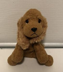"""Russ Dudley Luv Pet 5"""" Brown Puppy Dog Plush Stuffed Beanie Cocker Spaniel Tan"""