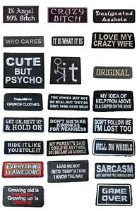 Words slogans Iron On Biker Patches Motorcycle Patches Iron On Sew On Transfer