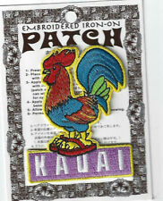 Island of Kauai Hawaii Souvenir Rooster Patch