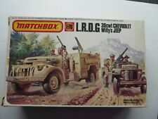 MATCHBOX 1/76 SCALE L.R.D.G 30cwt CHEVROLET & WILLYS JEEP MODEL KIT