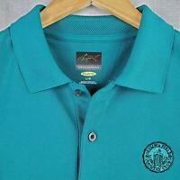 OLYMPIA FIELDS x GREG NORMAN Mens Green Short Sleeve Polo Shirt Golf 2020 BMW