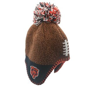 Chicago Bears Official NFL Baby Infant Kids Youth Pom Knit Winter Hat Cap New
