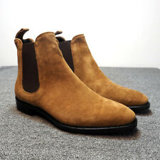 Fashion Men's Suede Ankle Boots Chelsea Boots Dress Formal Casual High Top Shoes