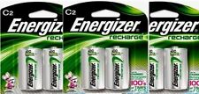 3 - Energizer Rechargeable C Nimh Batteries 2 Pack